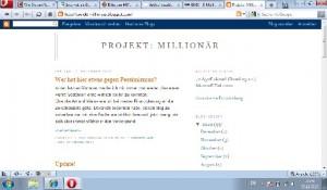 Blogvorstellung: Projekt Millionär