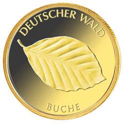 "20 Euro Sammlermünze in Gold: ""Buche"""